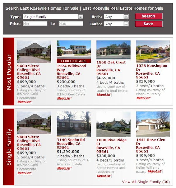 East Roseville Homes for Sale | East Roseville Real Estate