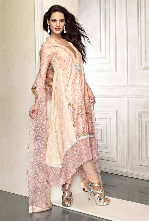 Gul Ahmed Eid Girls Dress Collection 2012