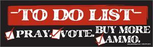 "Get Your ""To Do List"" Bumper Sticker"