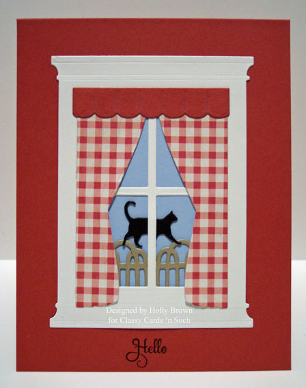classy cards 39 n such windows with red gingham curtains