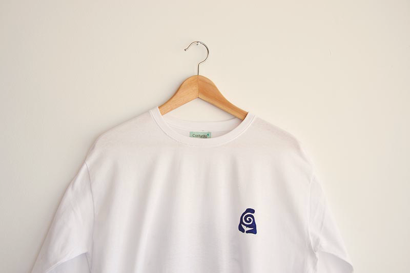 Camiseta artesanal, Costurilla handmade para Gigante Azul