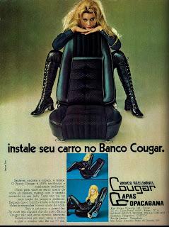 propaganda Banco Cougar - 1971;  1971; brazilian advertising cars in the 70s; os anos 70; história da década de 70; Brazil in the 70s; propaganda carros anos 70; Oswaldo Hernandez;