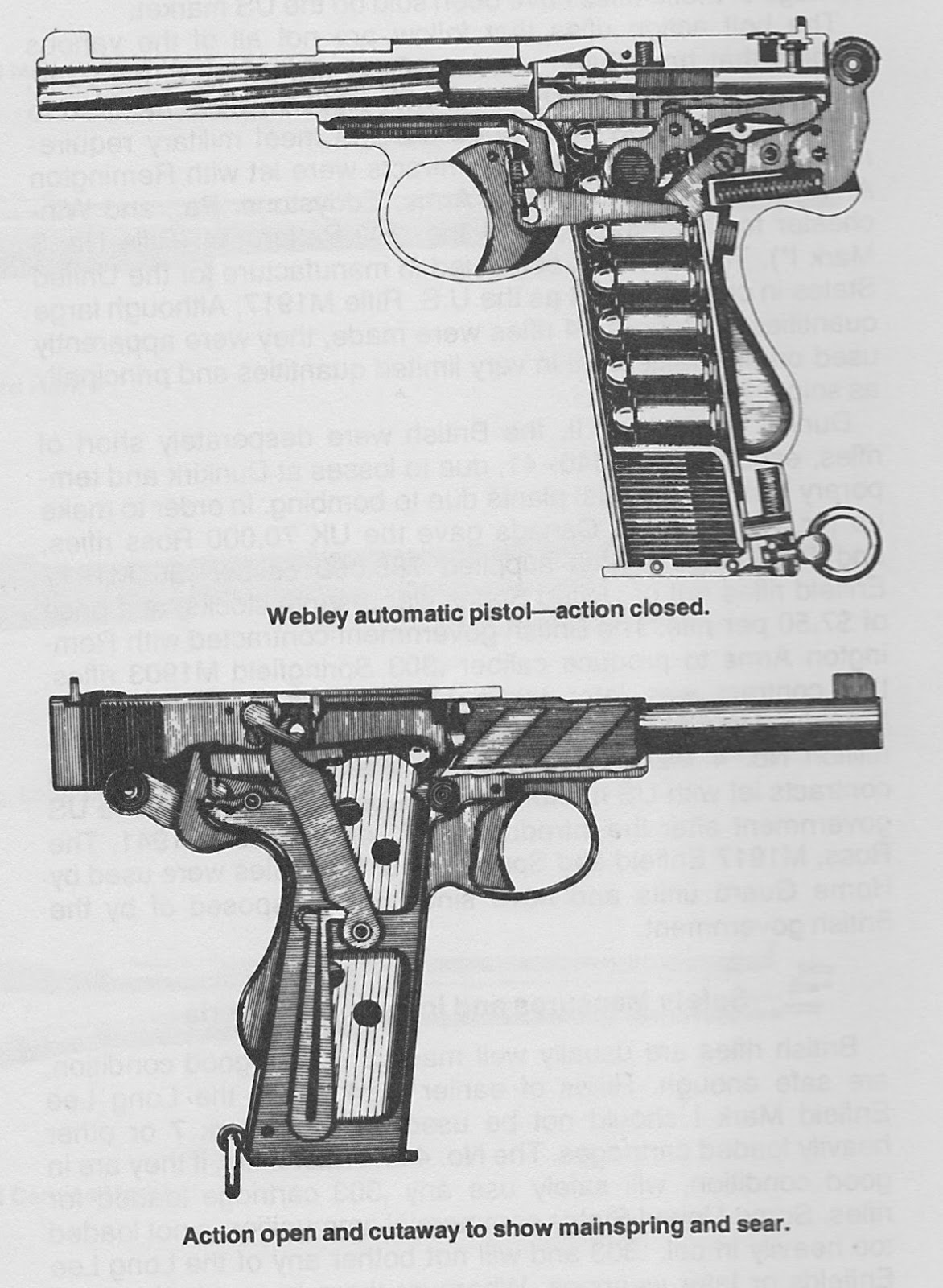 Arnhem jim the other webley limited standard semi automatic cut away drawings of the webley 455 in pistol self loading mk i model of 1912 pooptronica