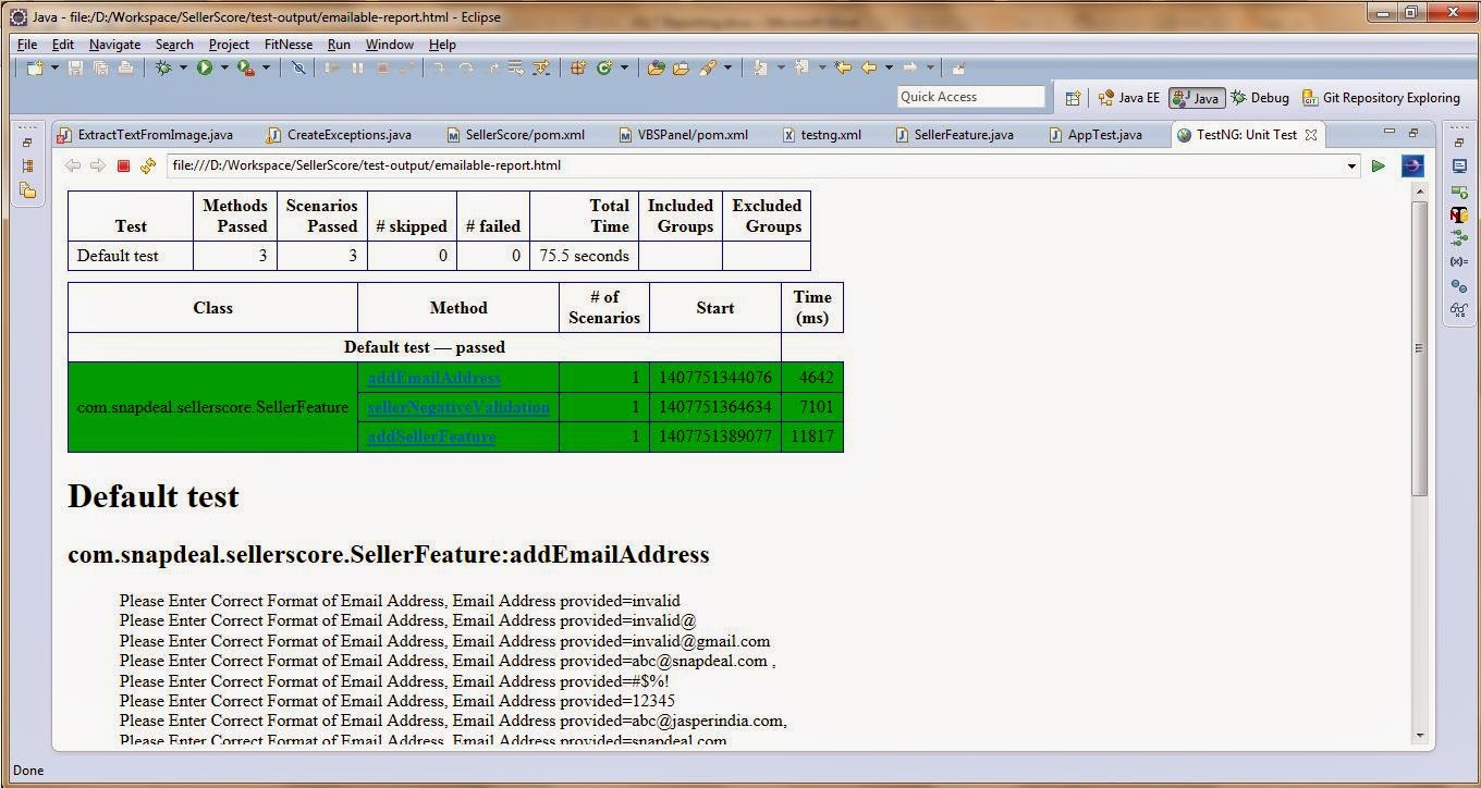 Testng xslt reporting using maven in selenium webdriver software sample testng xslt report example userfeature project steps of generating testng xslt report using command line a navigate to workspace directory where baditri Choice Image