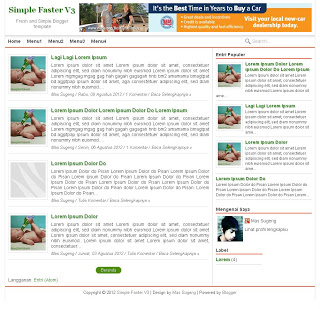 Download Template SEO | Simple Faster V3 Responsive, SEO and Fast Blogger Templates
