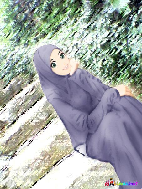 Gambar Hiasan Subhanallah Suka Melihat Lukisan Kartun Muslimah Ini