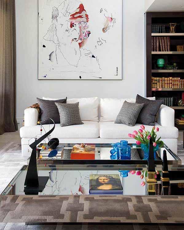 rumah minimalis, ruang tengah, desain ruangan tengah, desain sofa