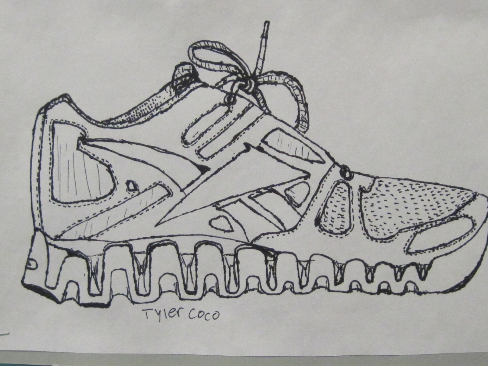 Contour Line Drawing Shoes Lesson Plan : Shana s art room contour shoe drawings