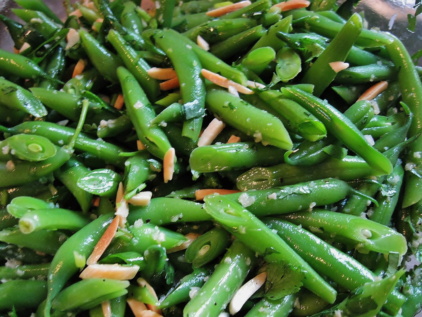 Green Bean Salad With Fried Almonds Recipes — Dishmaps