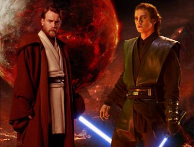 Obi Wan y Anakin en el concurso Star Wars