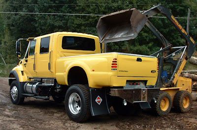 yellow lifted trucks