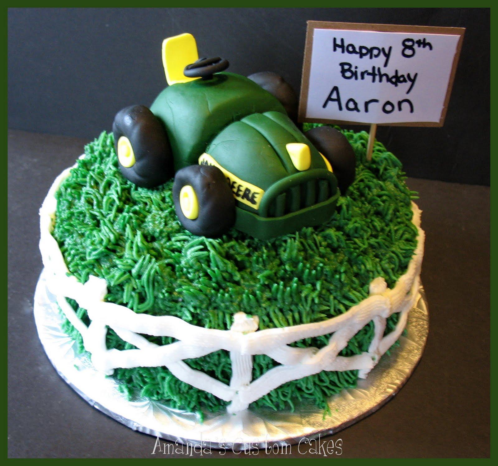 Amandas Custom Cakes John Deere Tractor and skateboard cakes
