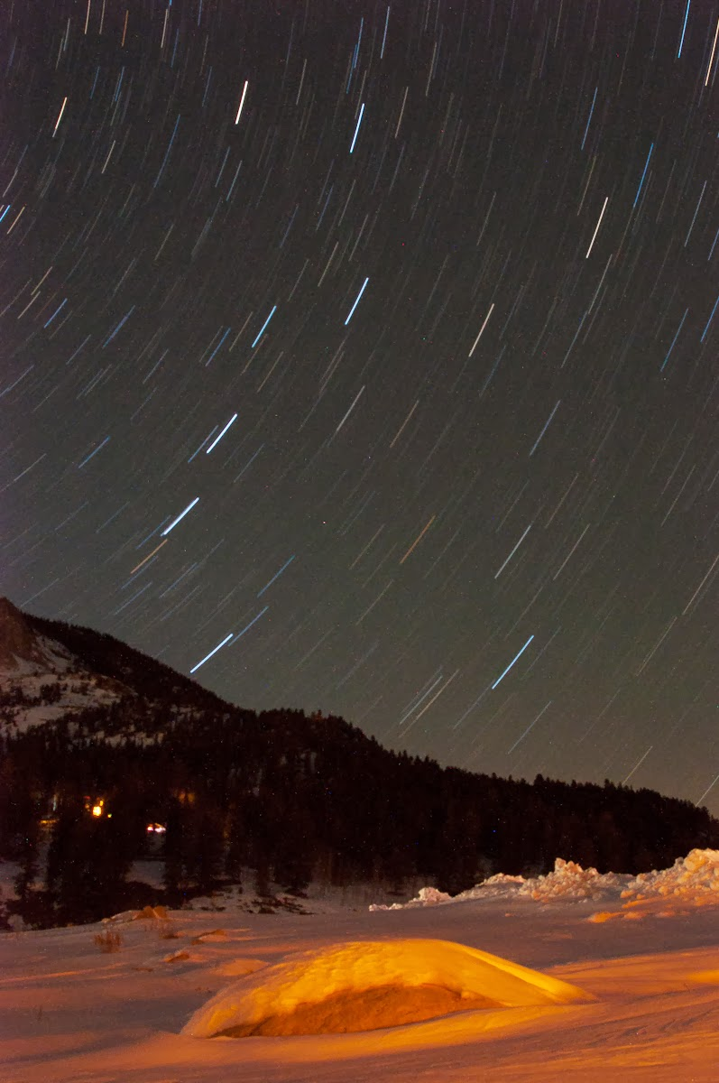 Star Trails Over Crested Butte