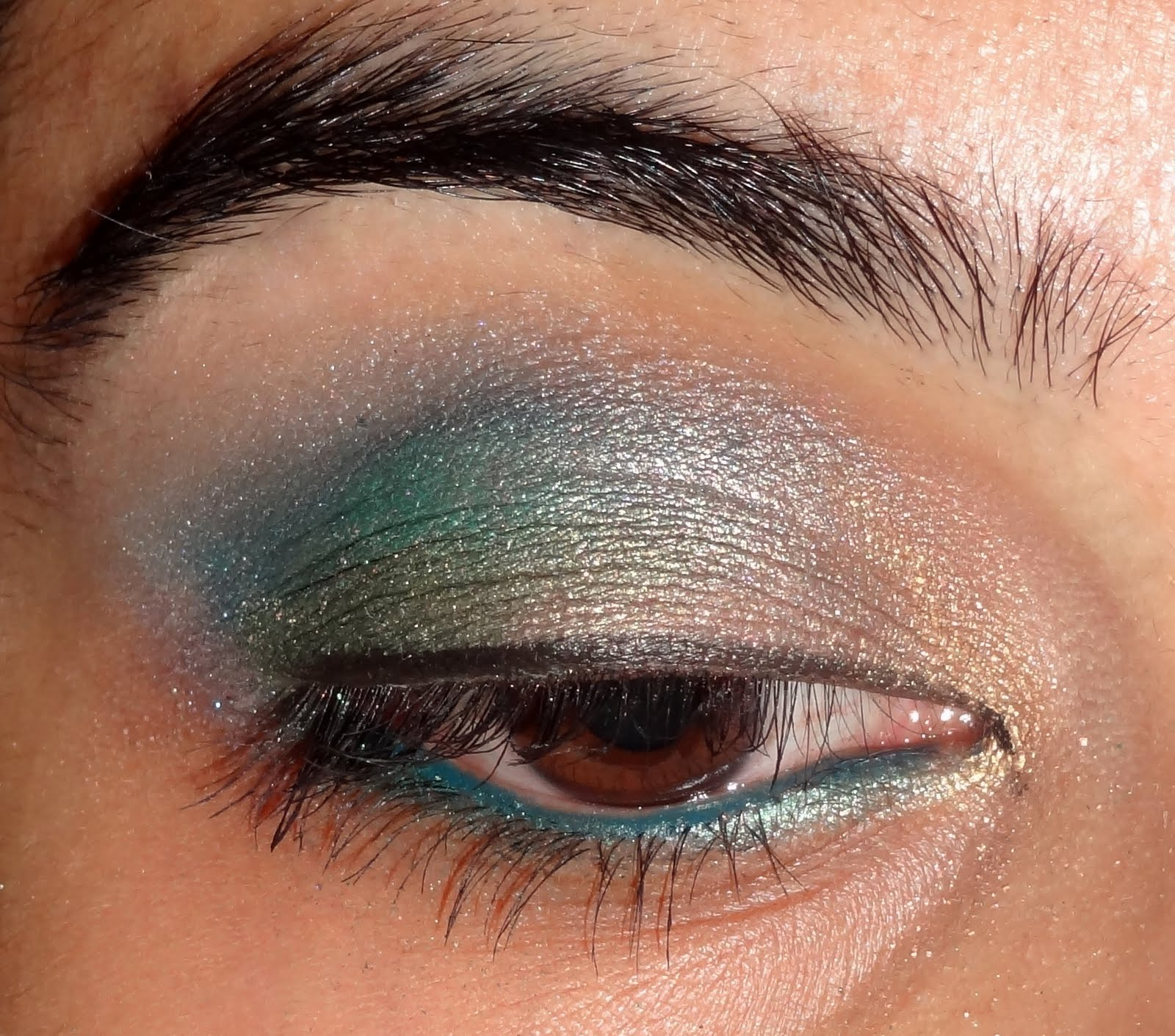 Green And Blue Eye Makeup Tutorial Peachesandblush