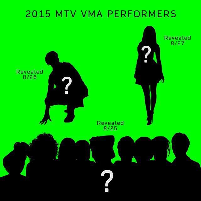 Los productores de los VMA 2015 comparten fotos con los posibles performers de la noche.