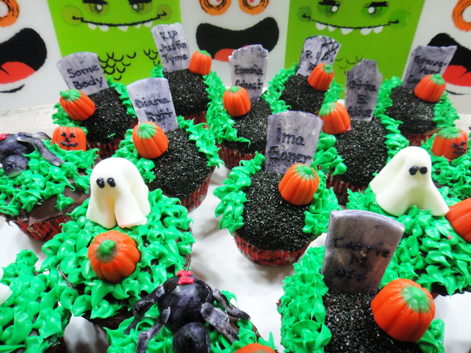 Halloween Tombstone Cupcakes Recipe — Dishmaps