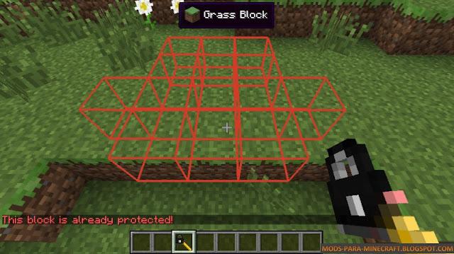 Como proteger bloques en Minecraft - Not Enough Wands Mod para Minecraft 1.7.10/1.8.9
