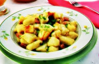 #receita de #nhoque de #mandioca com #bacon