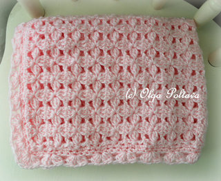 Pink Baby Blanket Pattern, $3.25