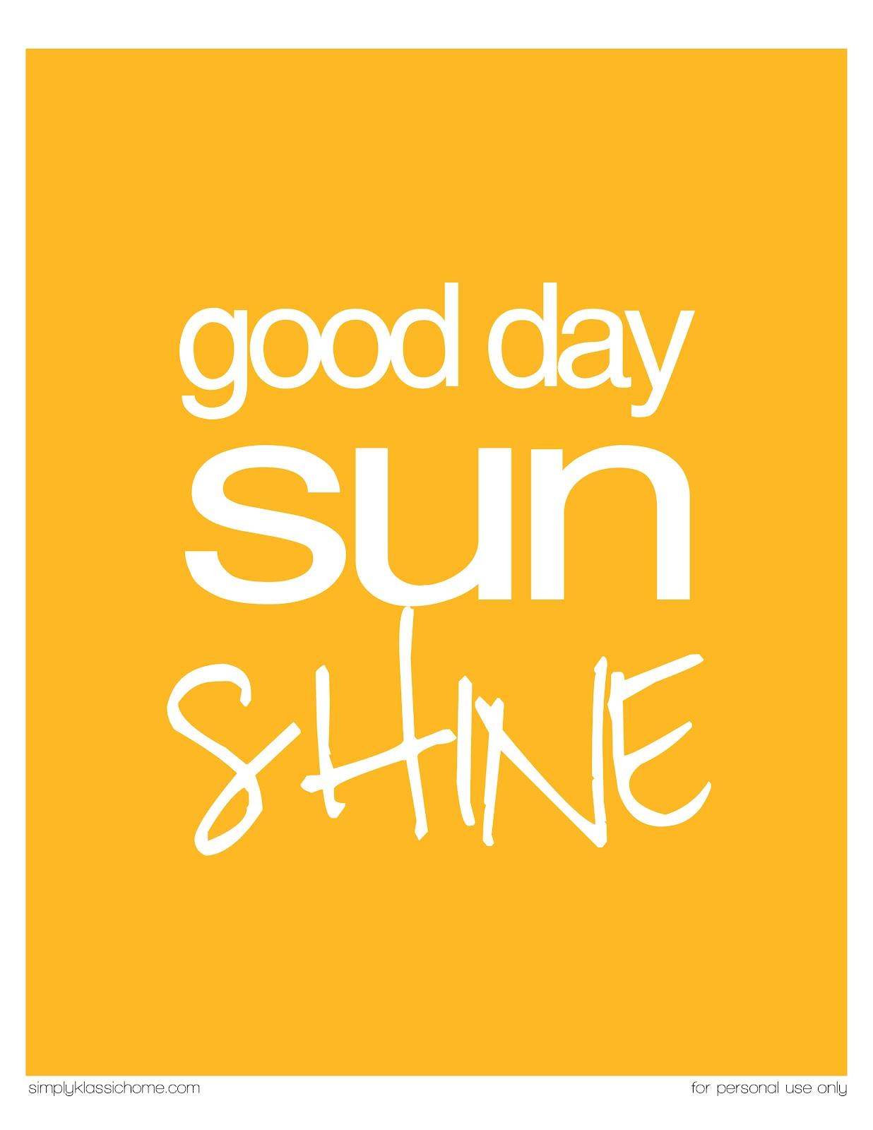 Good Day Sunshine Dailymotion : Good day sunshine printable ready summer crafts