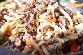 Món ăn ngon: Thịt bò xào nấm kim châm