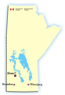 manitoba map, distance to manitoba universities