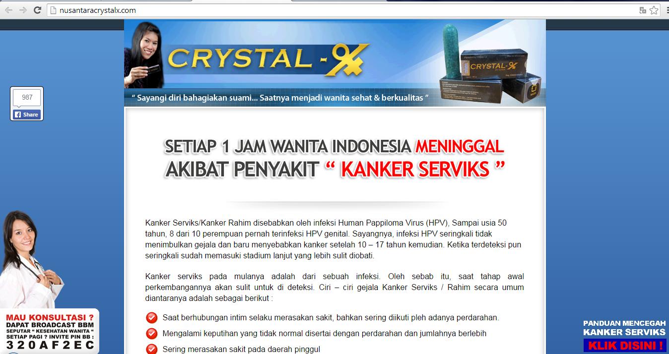 Jual Crystal X Asli Mengatasi & Menghilangkan Keputihan