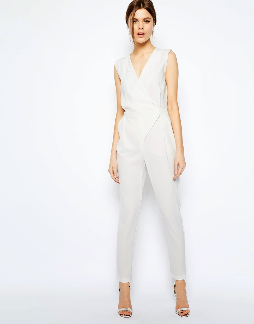 warehouse white jumpsuit