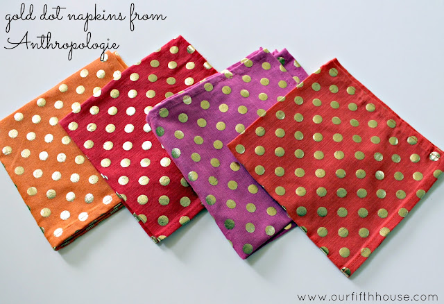 Gold Dot Fabric Napkins from Anthropologie