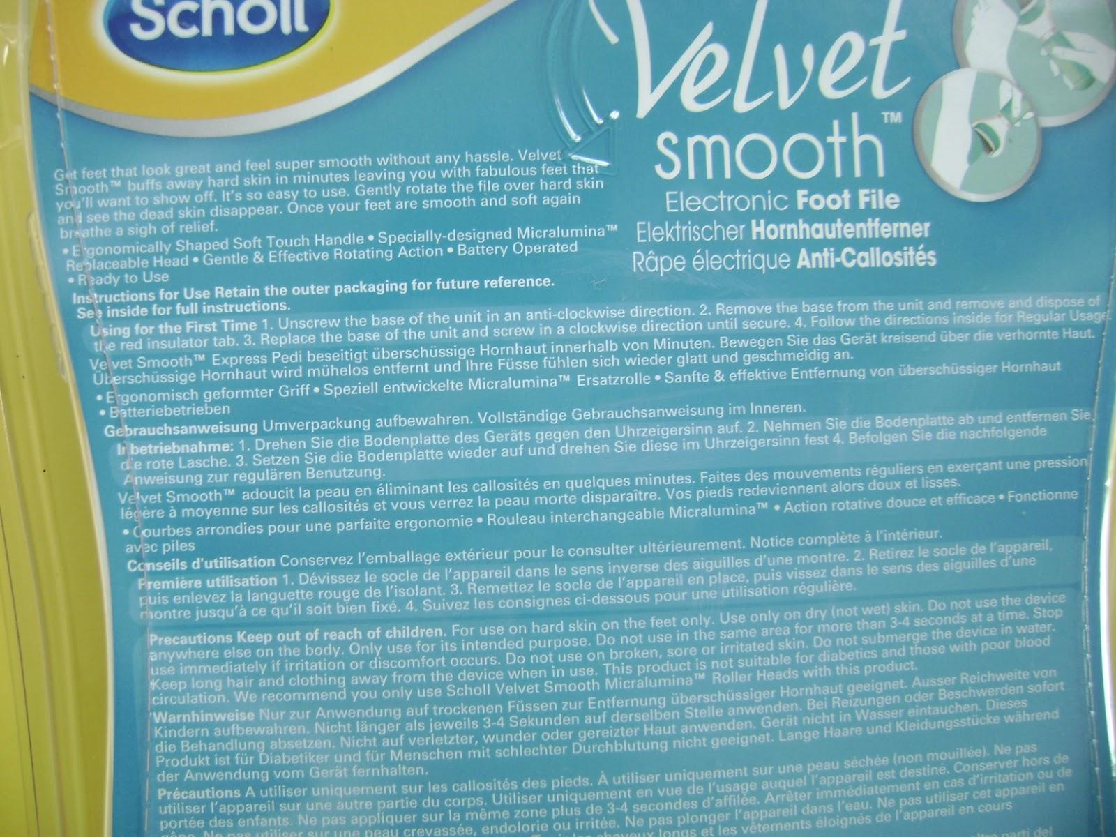 scholl velvet smooth express pedi electronic foot file