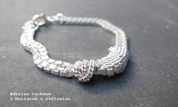 bracelet argent adeline cacheux mati res r flexion paris. Black Bedroom Furniture Sets. Home Design Ideas