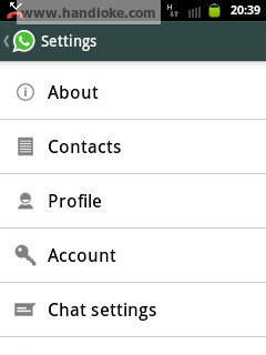 pilih Chat settings