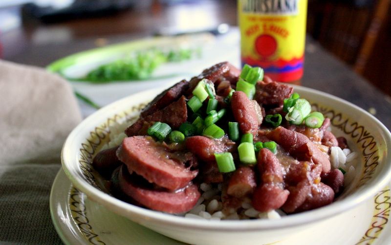 Beth Celestin: Slow Cooker Cajun-Style Red Beans & Sausage over Rice
