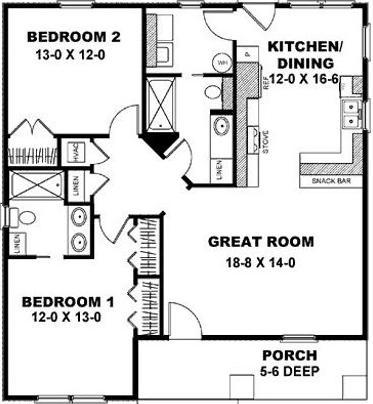 Fachadas de casas planos para casas peque as gratis for Planos de construccion de casas pequenas