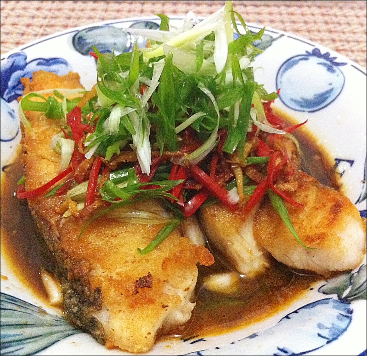 Little cookery book happy call pan recipe pan fried for Asian fish sauce