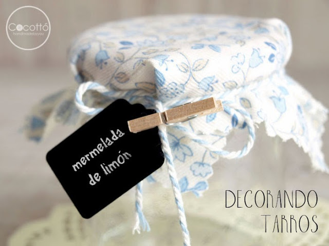decorar tarrod de mermelada