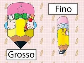 Opostos: Fino / Grosso