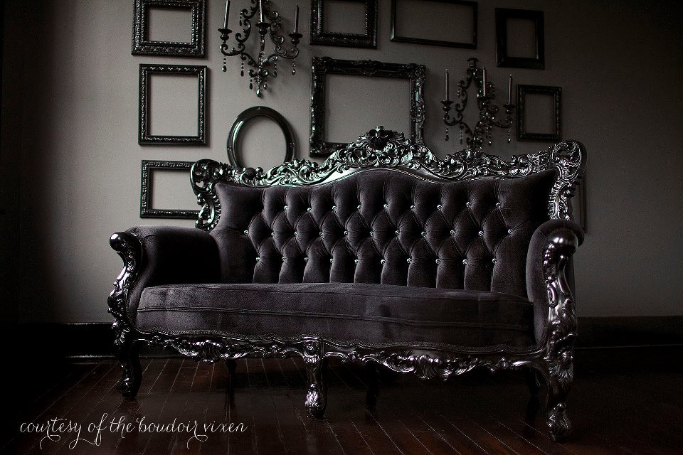Lush fab glam blogazine luxurious in black home design Black sofa decor