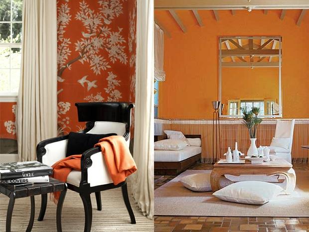 Una casa color naranja ideas para decorar dise ar y for Decoracion hogar naranja