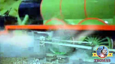Thomas and friends Henry the green engine cab driver let off some hot boiler steam with a hissing
