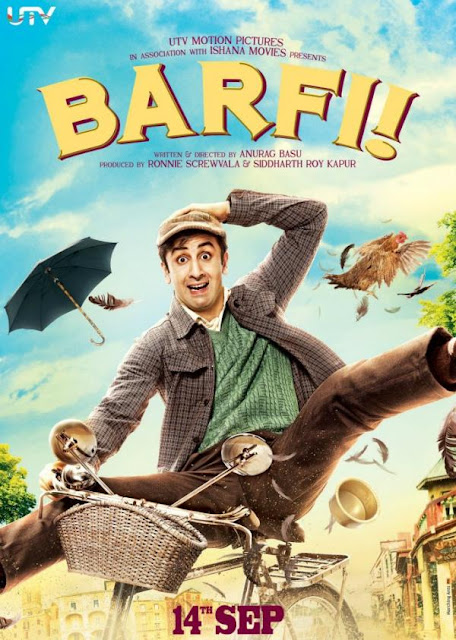 Ranbir Kapoor Riding Cycle - Barfi Movie Poster