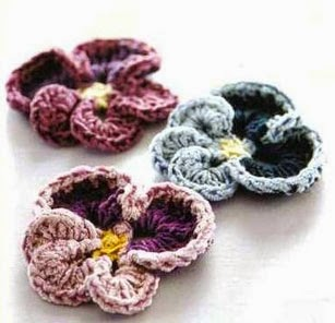 Crochet Flowers - free patterns-diagrams-video - ?????? ...