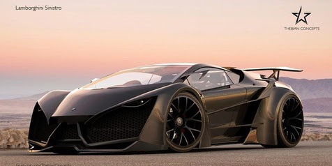 Lamboghini Sinistro Black Spec Concept By Maher Thebian. (Picture From:  Http://bit.ly/1s4dMzs)