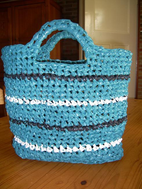 Zelfgemaakt Haakwerkjes En Meer Gehaakte Plastic Tas