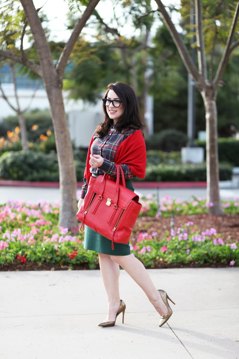 3.1-Phillip-Lim-Red-Large-Pashli-Satchel-Jcrew-holiday-style-jenna-lyons-super-ciccio-matte-black-glasses-holiday-outfit-ideas-king-and-kind