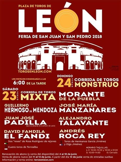 cartel toros Leon 2018