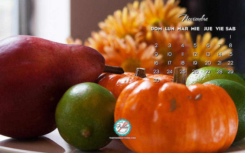 The Foodies' Kitchen wallpaper noviembre