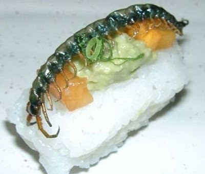 Sushi de inseto
