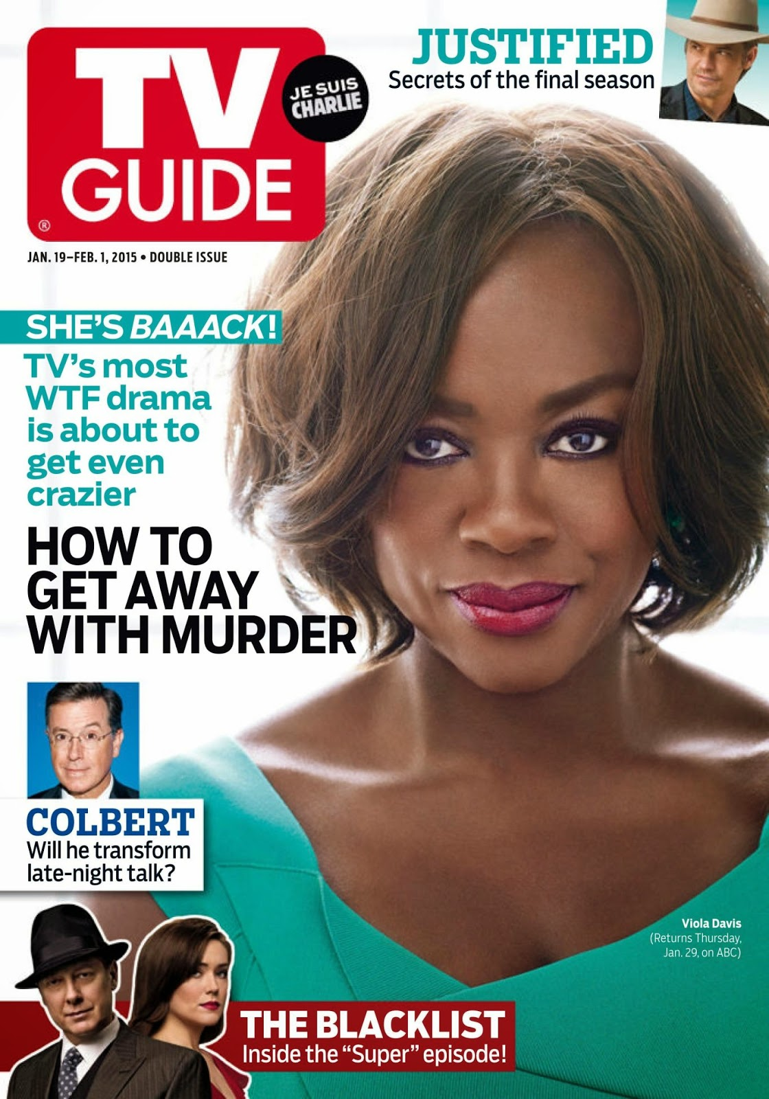 Viola Davis - TV Guide, USA, January 2015