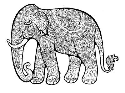 Elefánt színező